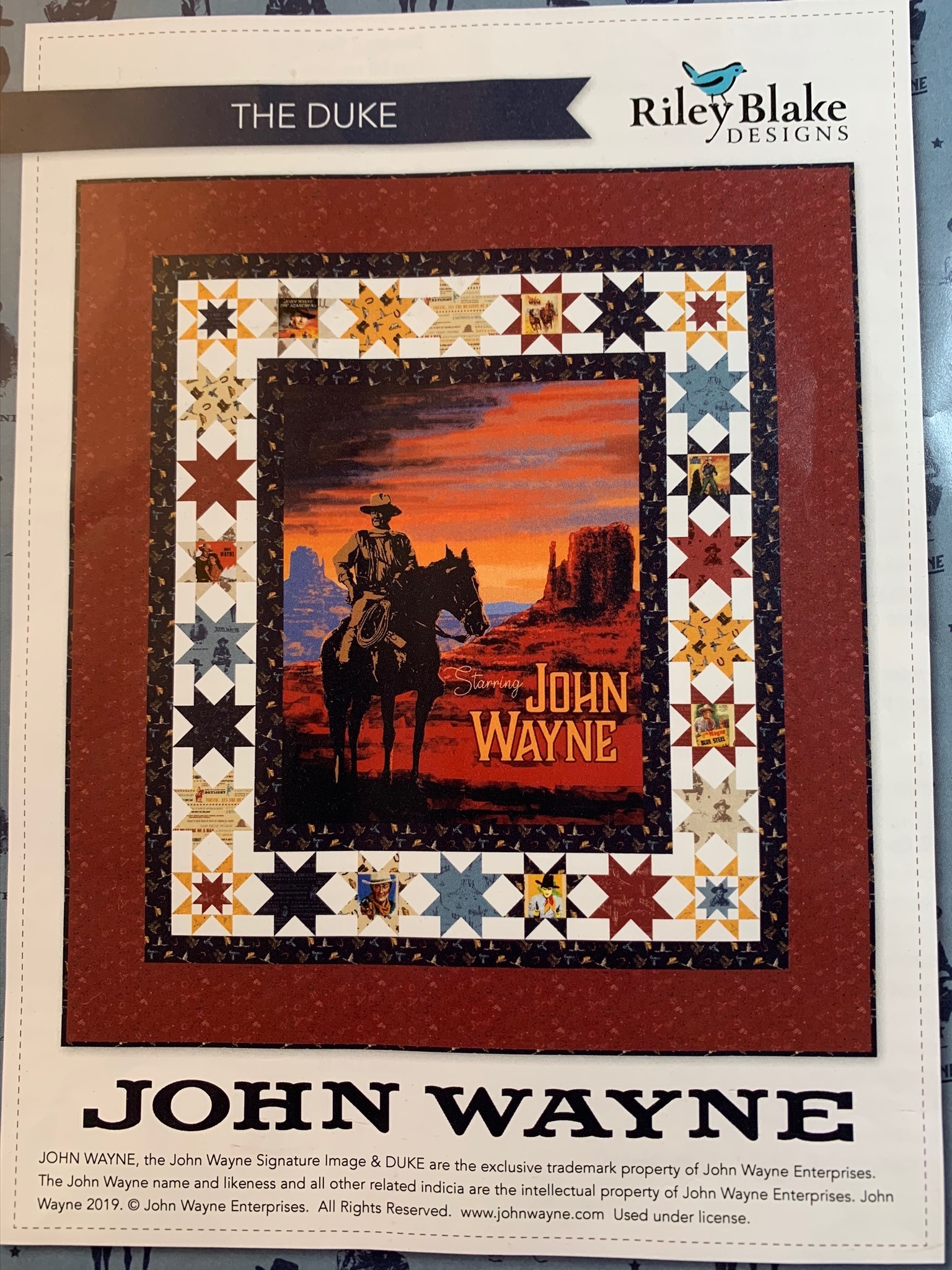 The Making Of John Wayne Quilt By Riley Blake