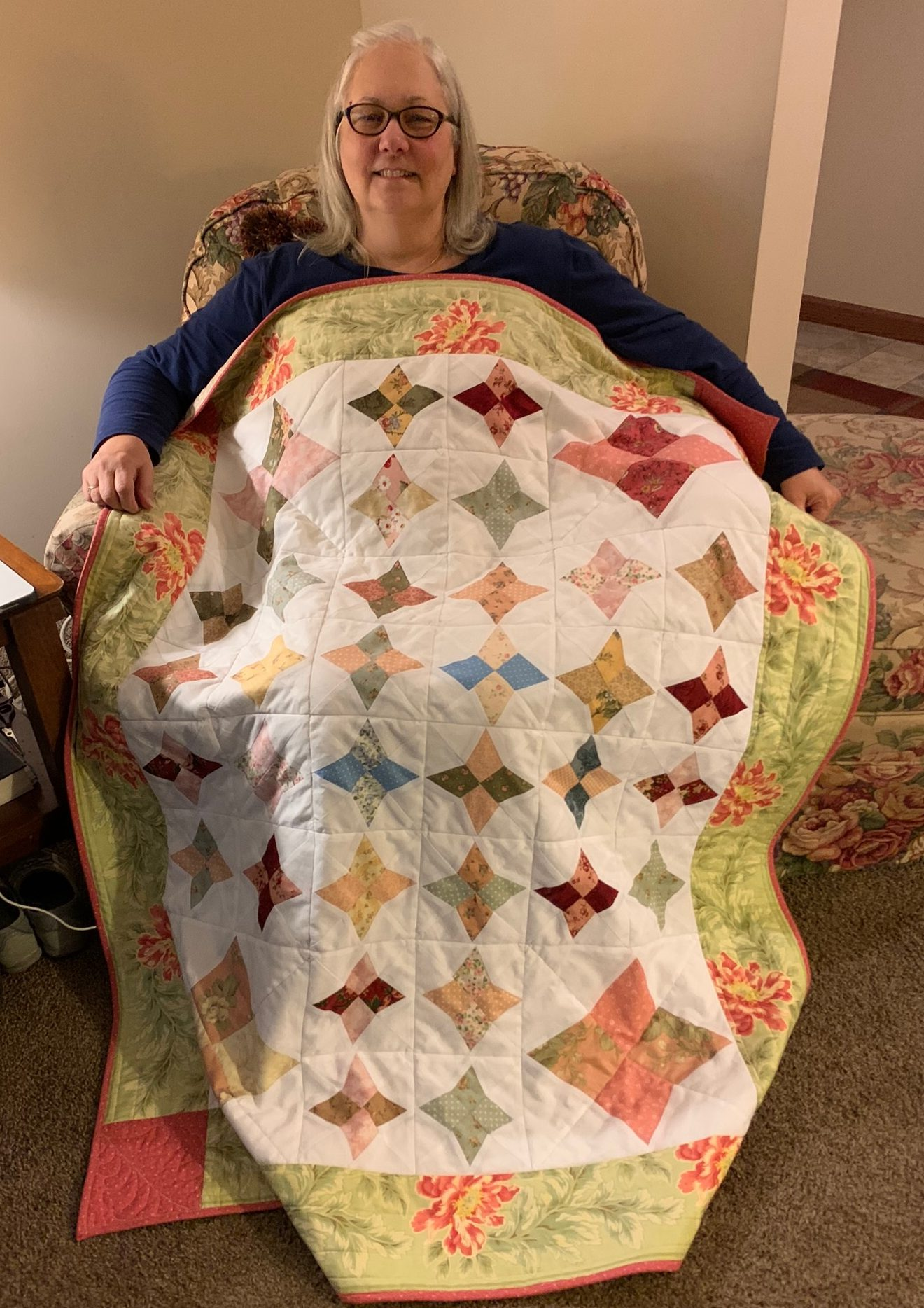 Quilt made with AccuQuilt Kite Die